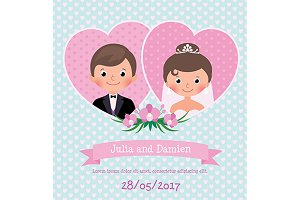 Invitation wedding card