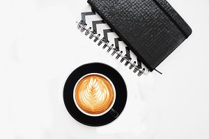 Notebook&Coffee Styled Photo