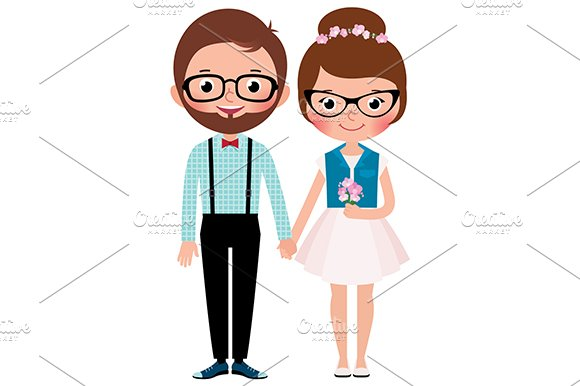 Loving couple hipsters
