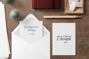 5X7 Greeting Card Mockup - 10