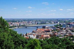 Panorama of Budapest, Gellert Hill.