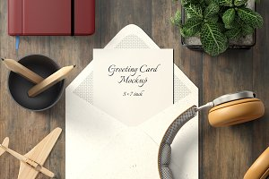 5x7 Greeting Card Mockup Pack - 1