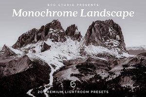 Monochrome Landscape Lr Presets