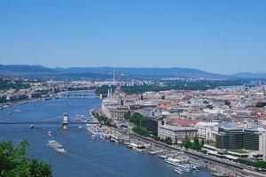 Budapest skyline view from Geller