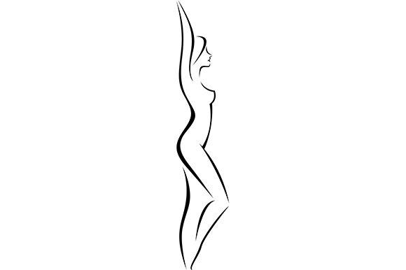 Nude woman silhouette clip art