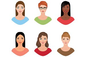 Set avatars women
