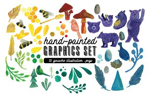 Hand-painted Graphics - BIG BUNDLE