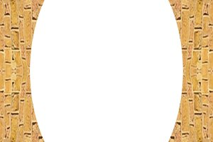 White Circle Frame with Brickwall Borders