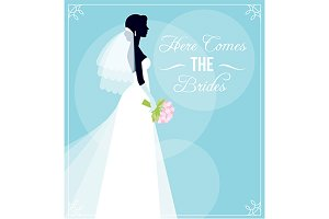 Silhouette a bride