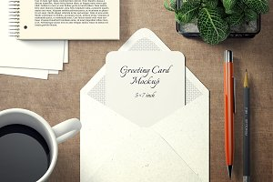 5x7 Greeting Card Mockup Pack - 3