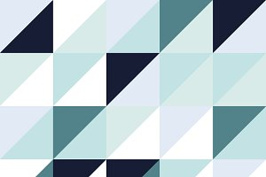 Shades of Blue Triangle Pattern
