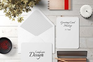 5x7 Greeting Card Mockup Pack - 4
