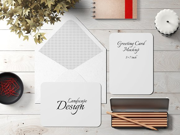 5x7 Greeting Card Mockup Pack 4