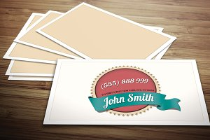 Light Vintage Business Card