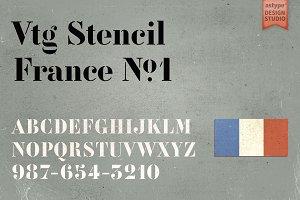 Vtg Stencil Francre No.1
