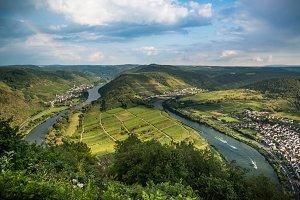 Mosel river scenic