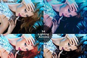 Set 3. 34 Photoshop Lighting Actions
