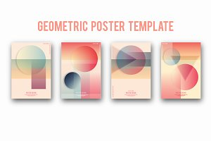 Geometric cover template set.