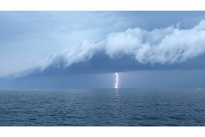 Large storm over the sea photo