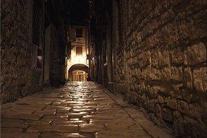 Low angle shot of an croatian street