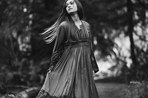 Bohemian Girl in Black and White