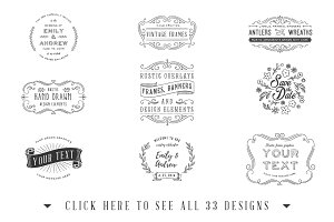 Save the Date Overlays Huge Set