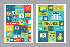 Business & Finance - Flat Posters