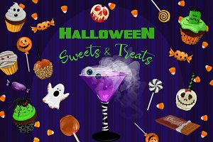 Halloween Sweets & Treats Clipart