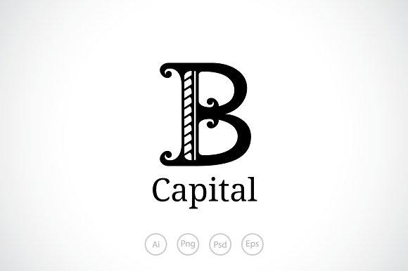 letter b logo template logos