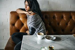 woman sitting indoor