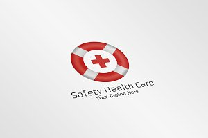 Safety Health Care Logo Template