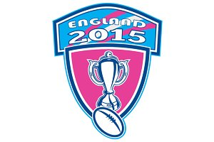 Rugby Cup Ball England 2015 Shield