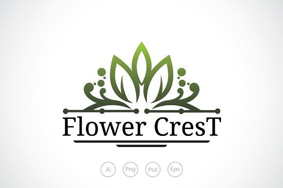 Flower Crest Logo Template