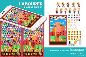 Flat Laborer Shooting Game Kit