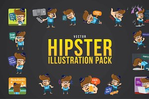 HIPSTER VECTOR ILLUSTRATION PACK