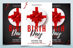 Flyer template for Birthday Party