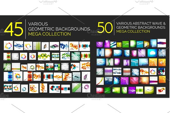 Set Of Geometric Abstract Posters