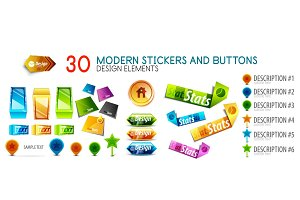 Mega collection of stickers and buttons