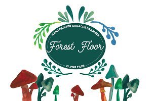 Forest Floor-  Handpainted Graphics