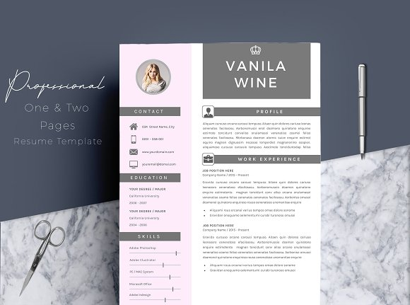 4 pages professional resume template resumes
