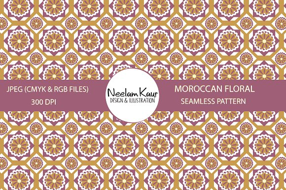 Moroccan Floral Seamless Repeat