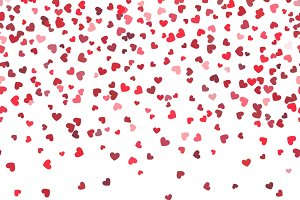 Heart fall vector background