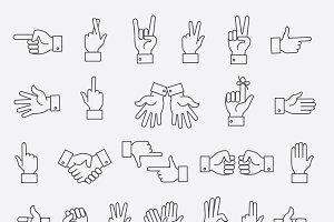 Lined hands gestures