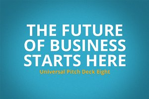 Universal Pitch Deck Eight Keynote