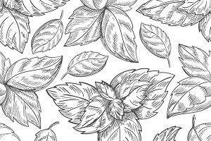 Mint leaf pattern