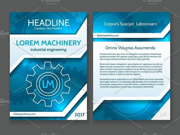 Technology Brochure Template Illustrations Creative Market - Technology brochure template