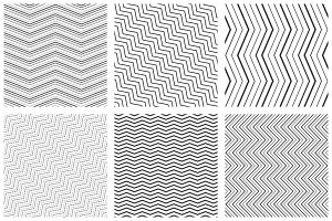 Zigzag seamless pattern set