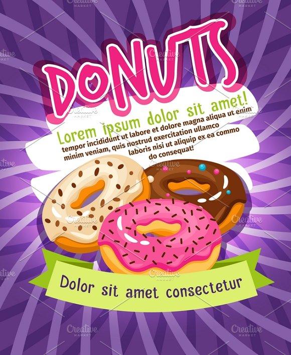 Glazed Donut Bakery Poster
