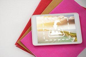 Tablet On Binder Mockup
