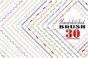 Handdrawn Vector Pattern Brushes